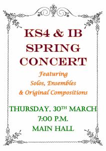 Upper School Spring Concert @ Hall