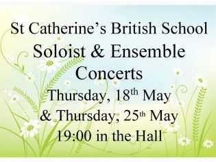 Soloist Concerts, May 2017, Poster invitation