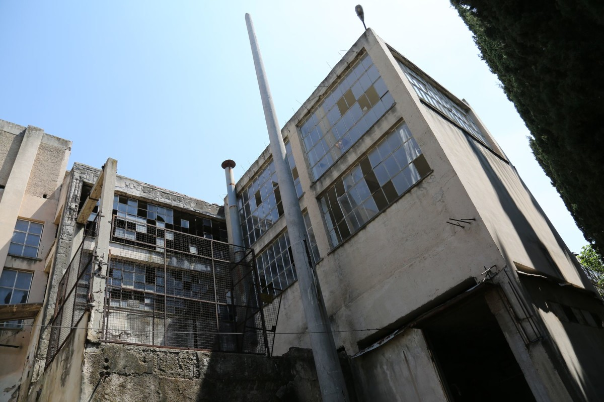 The building before construction starts