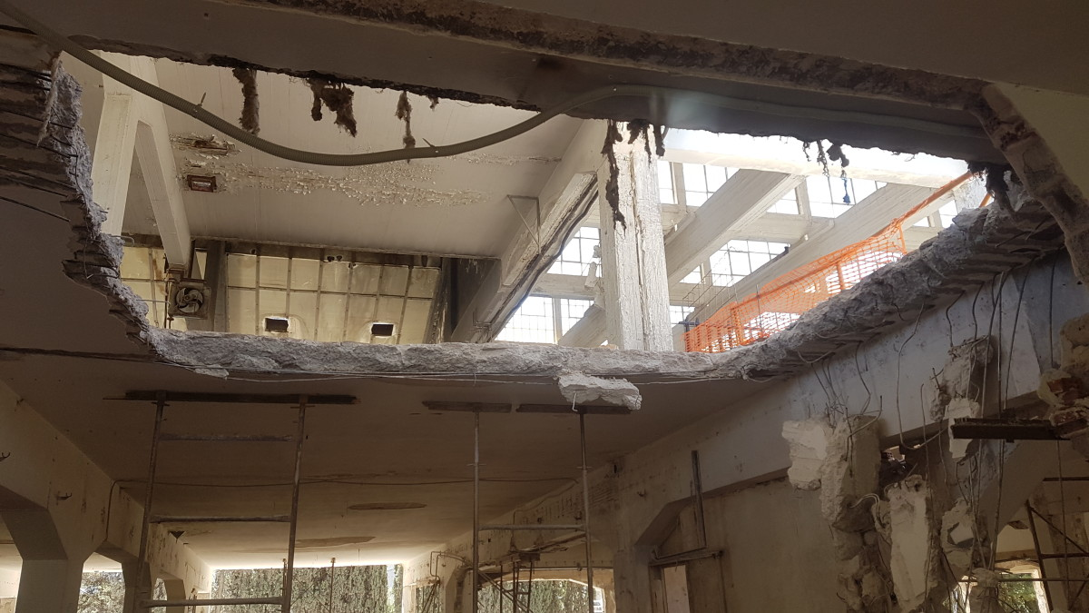 ... and the ceilings came down...