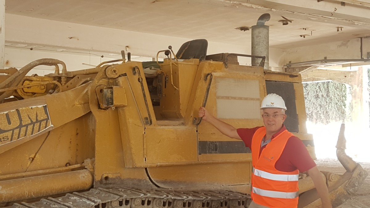 Mr Smith with his digger