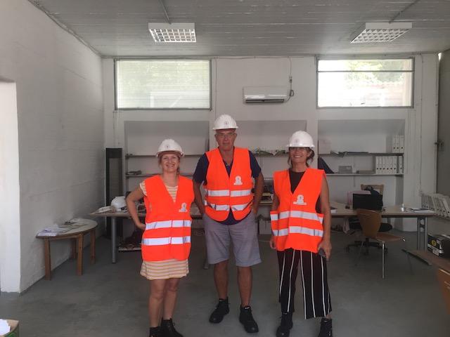 Miss Ralston, Development Director, Mr Smith, Headmaster and Mrs Matthews, Head of Lower School